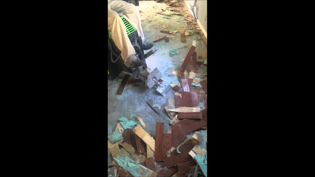 How to remove glue down wood floor - How To Remove Glue Down Wood Floor - YouTube