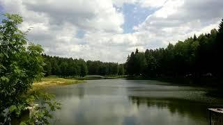 На шоссере: озеро у д.Лихачи. Рыбалка. On shossere: lake at d.Lihachi. Fishing.