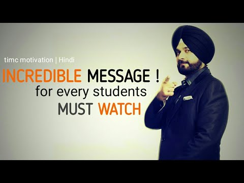 INCREDIBLE MESSAGE - Motivational Video |NAVJOT SINGH SIDHU|