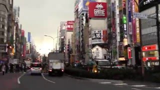 3-11 Japan earthquake moment in Shinjuku, Tokyo