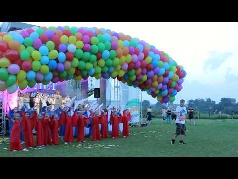 С Днём рождения  Володарка - шары в небе