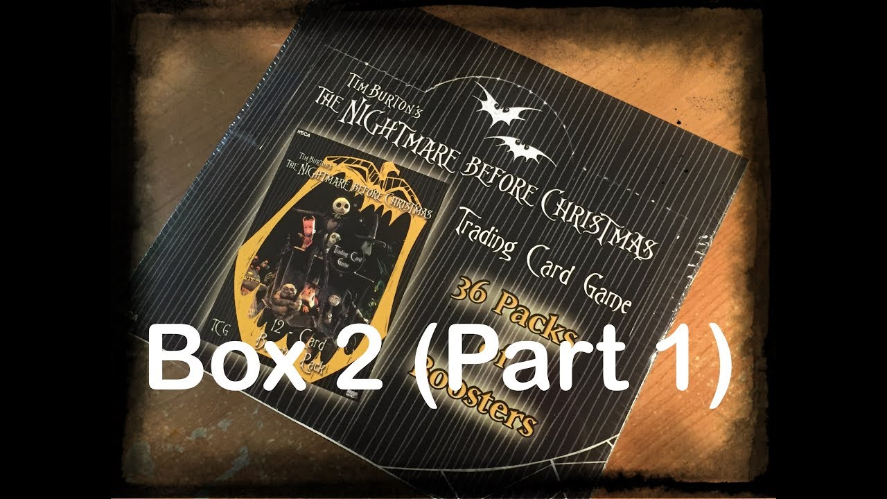 The Nightmare Before Christmas TCG Box Opening (Box 2 Part 1) - YouTube