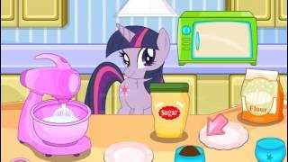 Мультик игра Мой маленький пони: Твайлайт готовит кексы (Twilight Sparkle Cooking Cupcakes)