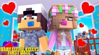 BABY LITTLE KELLYS FIRST EVER DATE!   Minecraft Little Kelly