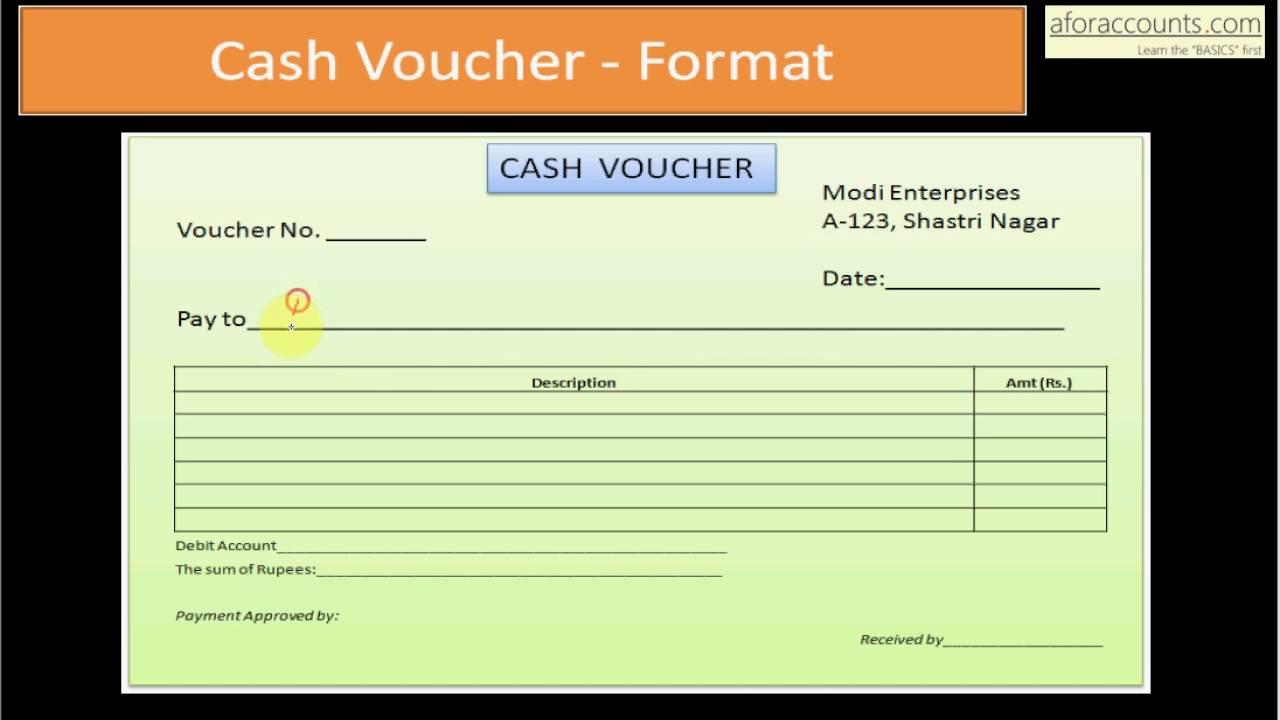 3.5 Cash Voucher And Petty Cash Voucher  Petty Cash Voucher Format