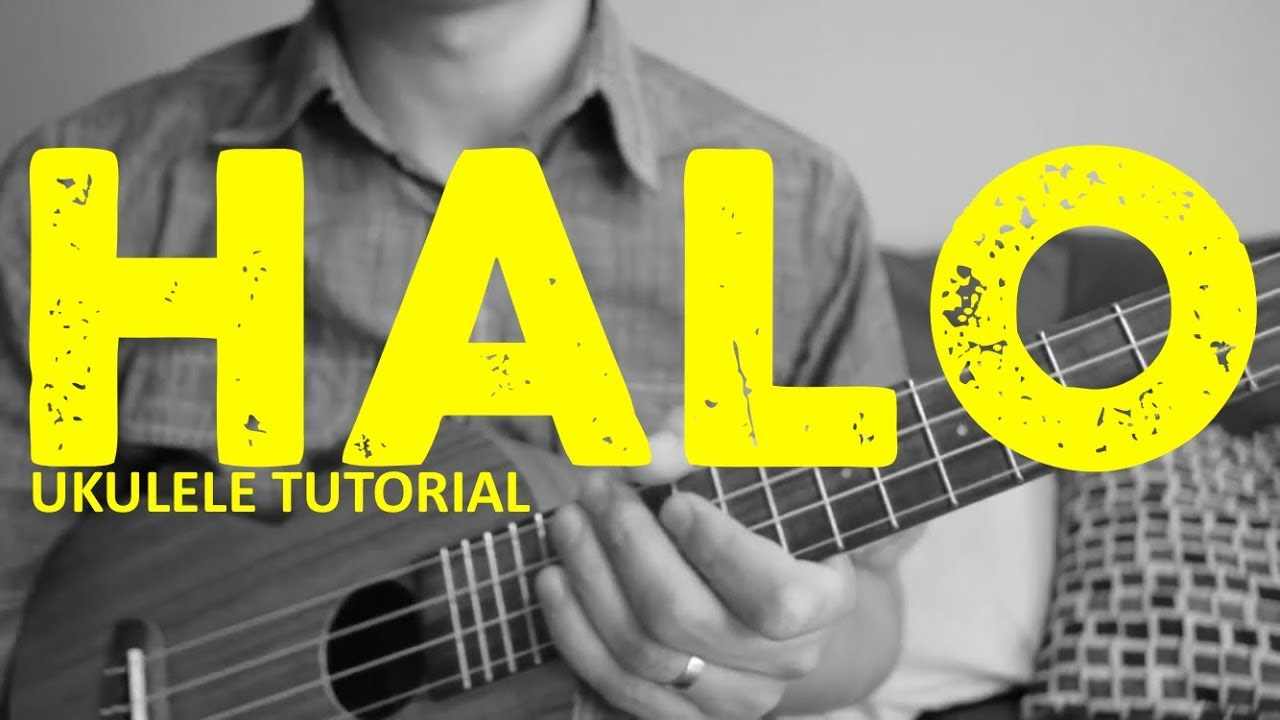 Halo Beyonce Easy Ukulele Tutorial Chords How To Play Youtube