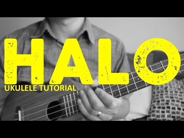 Halo Beyonce Easy Ukulele Tutorial Chords How To Play