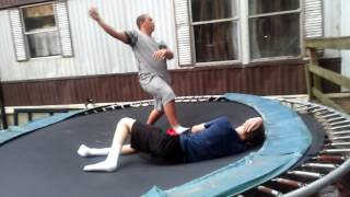 trampoline wrestling tnw the killer vs cj 2 out of 3 falls match