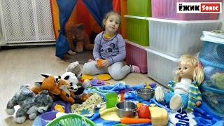 Играем. Пикник зимой в домашних условиях. Play. A picnic in winter at home.