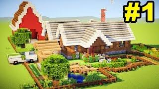 Minecraft Tutorial - Casa de Fazenda Completa