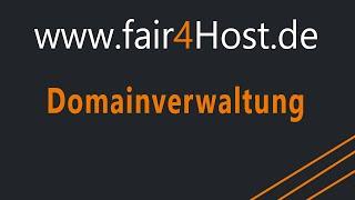 fair4Host | Domainverwaltung (Veraltet)