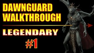 Skyrim Dawnguard DLC Walkthrough Gameplay - Illusion Assassin Build - Part 1, Fort Dawnguard