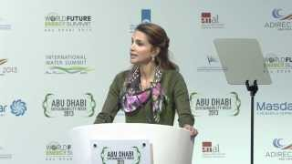 Her Majesty Queen Rania Al Abdulla, Jordan spoke at the WFES 2013 Ceremony