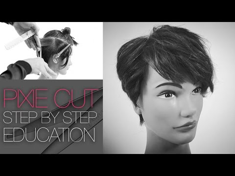 How to cut The Tyra Banks Pixie Haircut  – Step by Step
