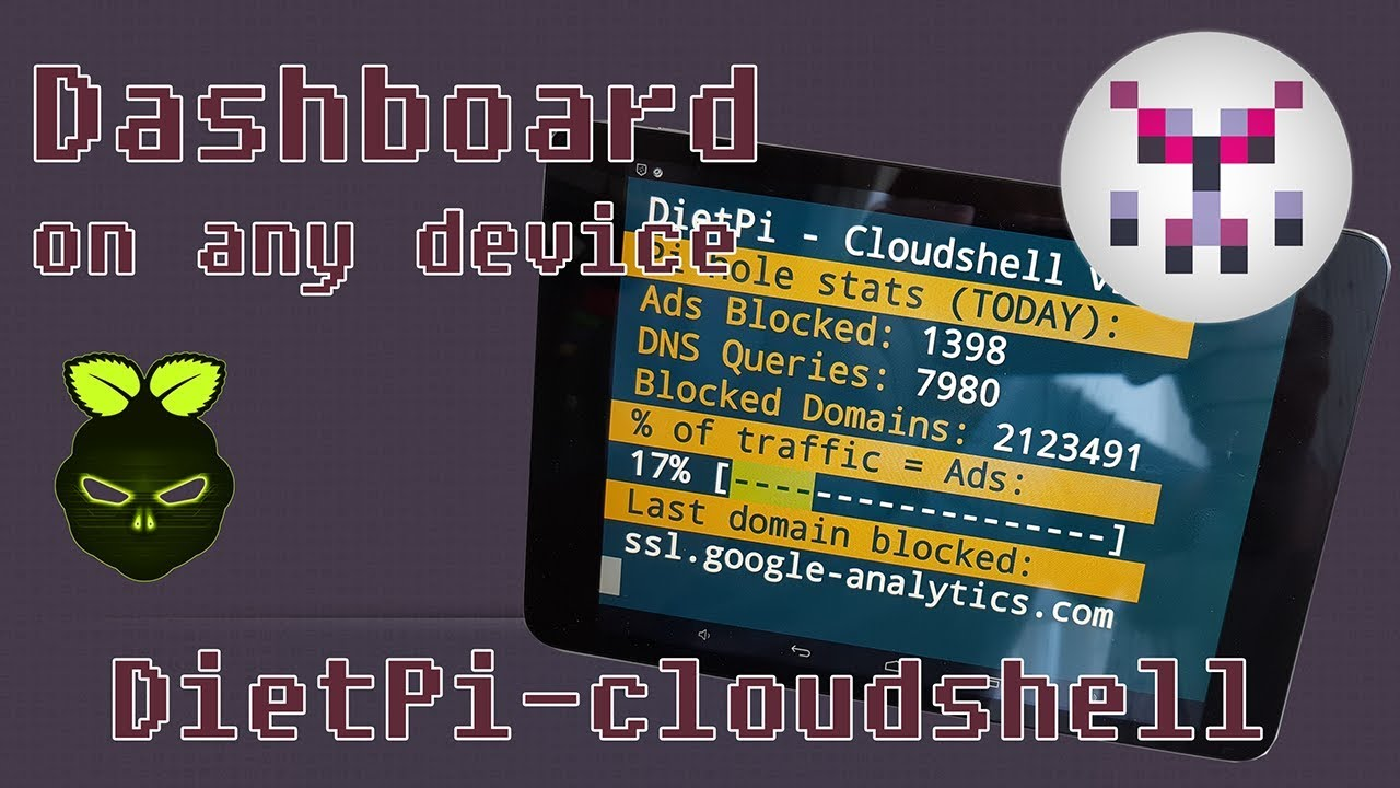 Remote screen for your Pi - DietPi Cloudshell