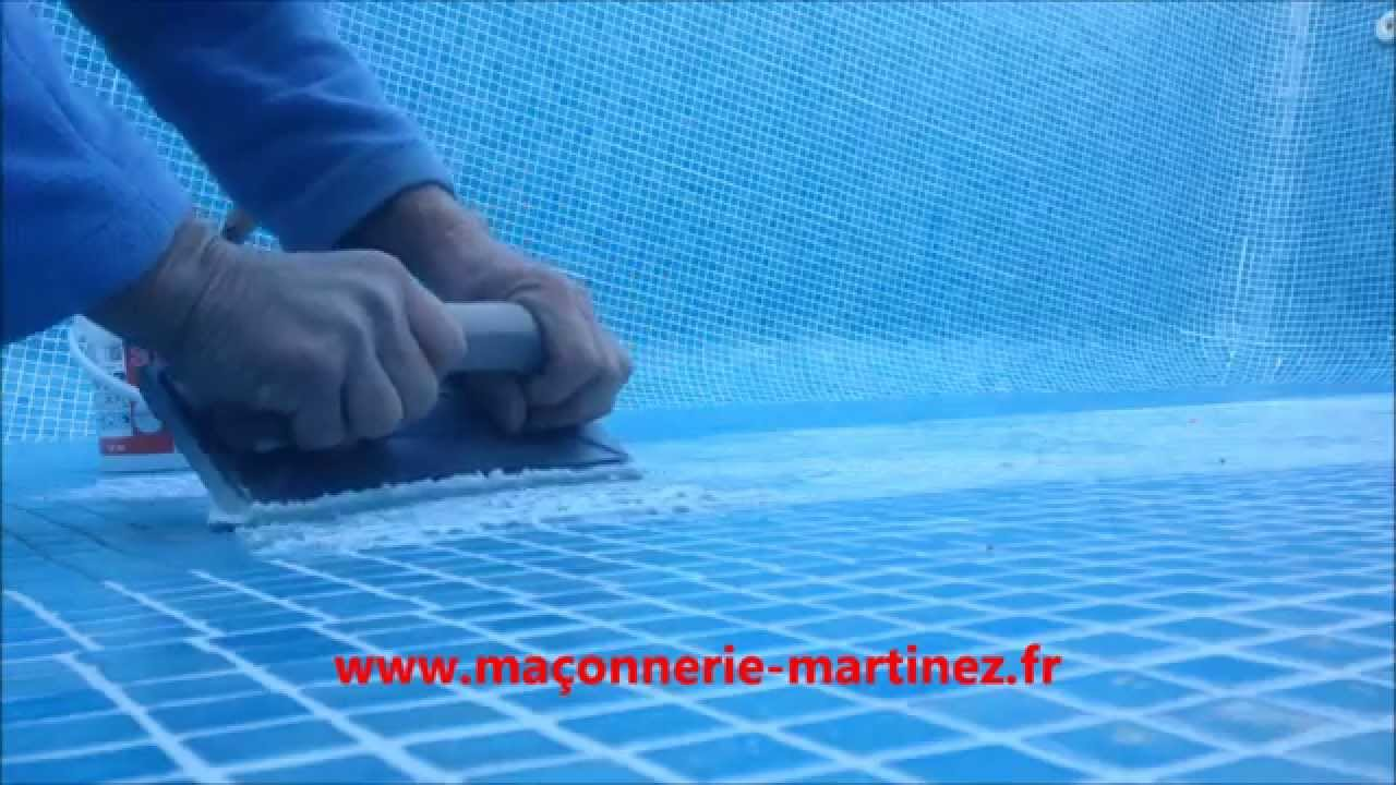 R alisation de joints patte de verre avec starlike epoxy for Joint carrelage piscine