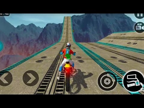 IMPOSSIBLE MOTOR BIKE TRACKS 3D #Dirt Motor Cycle Racer Game #Bike Games To Play #Games For Kids - Видео приколы ржачные до слез