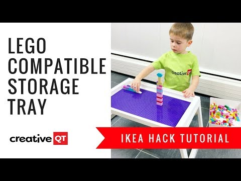 DIY IKEA HACK! LEGO Compatible Storage Tray
