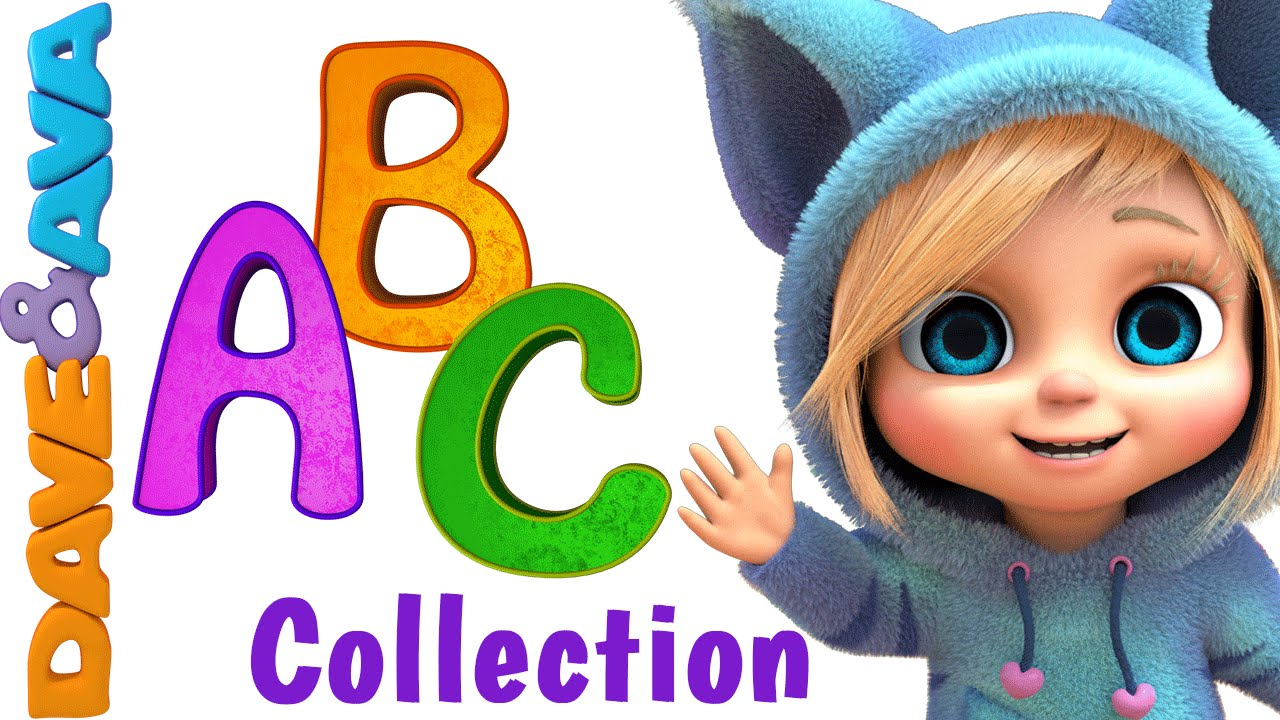 Abc Song Nursery Rhymes Collection Youtube Nursery Rhymes From Dave And Ava Youtube
