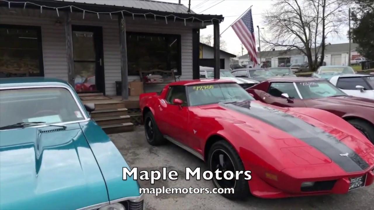 Maple Motors Classic Muscle Car Lot Hendersonville Tn Youtube
