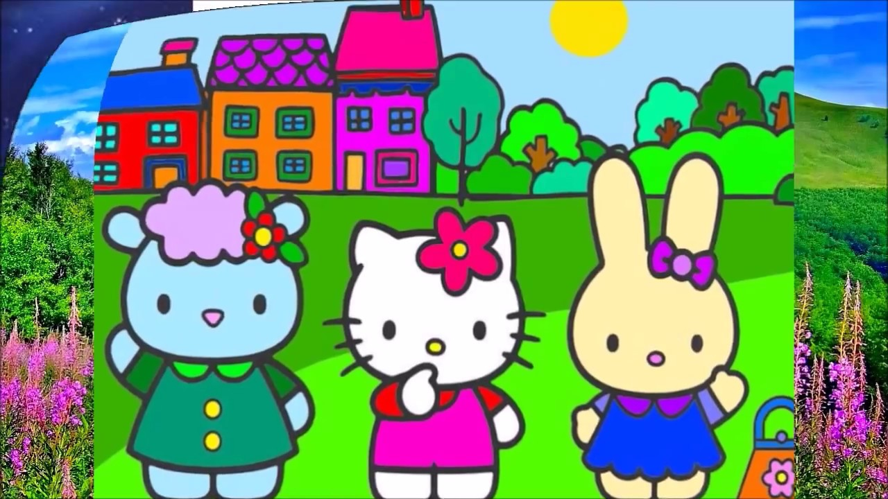 Hello Kitty Coloring Book Color Shopkins Toys Pages