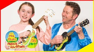 Coconuts Ukulele Lesson | Teaching Music and Instruments | The Mik Maks