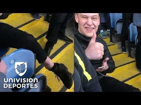 Se fracturó celebrando gol del Leeds de Bielsa y prefirió quedarse a ver el final del partido