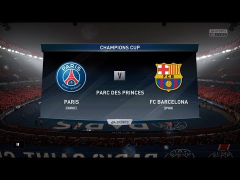 FIFA 18 Career Season 4 UEFA Champions League Round of 16 Paris SG vs. FC Barcelona 1st Leg