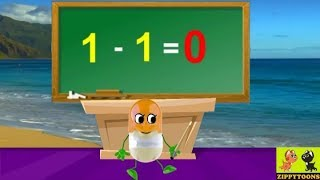 Animated Christmas Song And Table Of Minus 1 | Math Table For Subtraction
