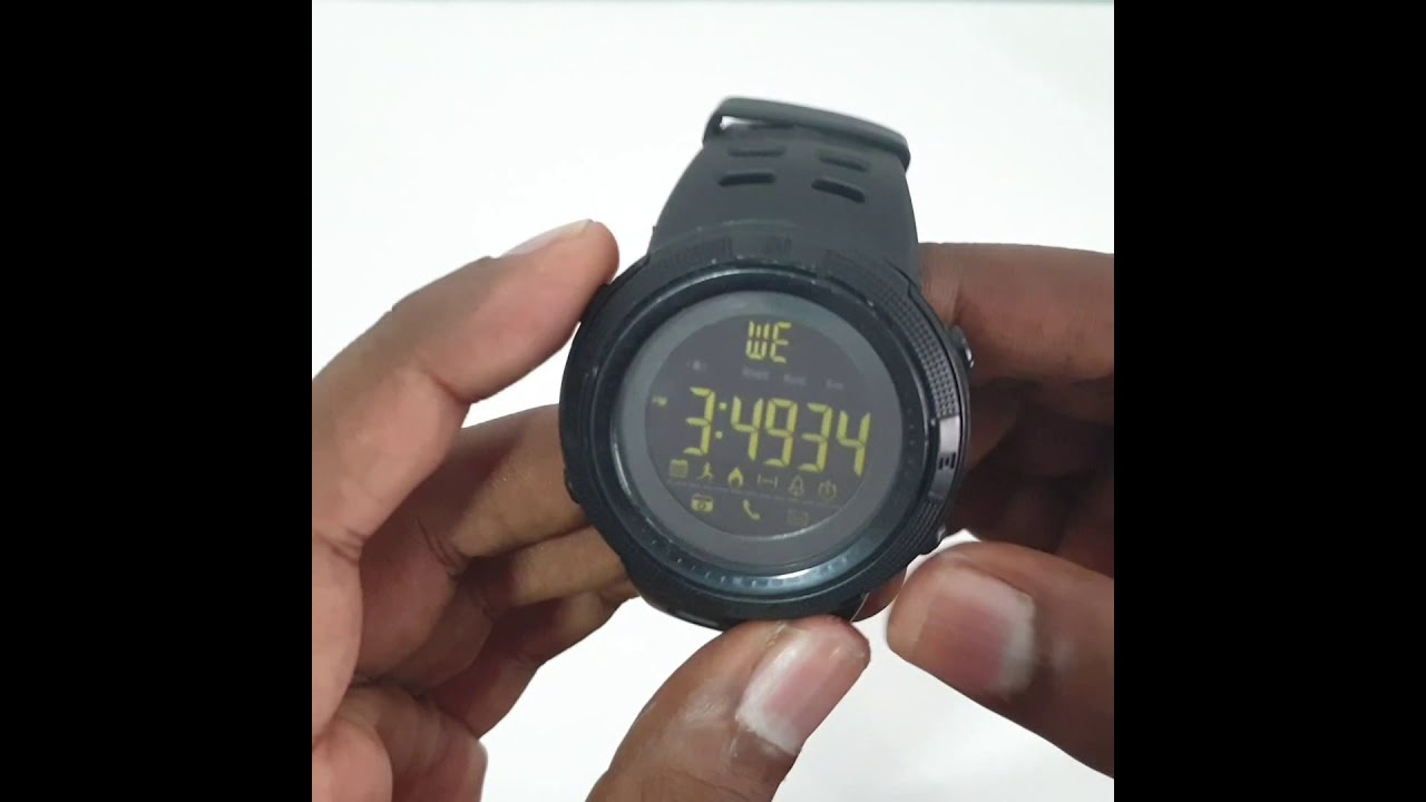 How To Connect Skmei Bluetooth Watch To Your Smartphone Skmei Bluetooth Smartwatch Youtube