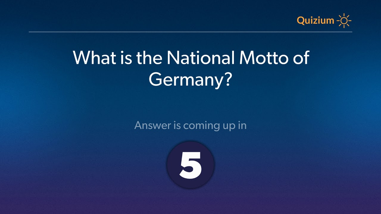 What Is The National Motto Of Germany Germany Quiz Youtube