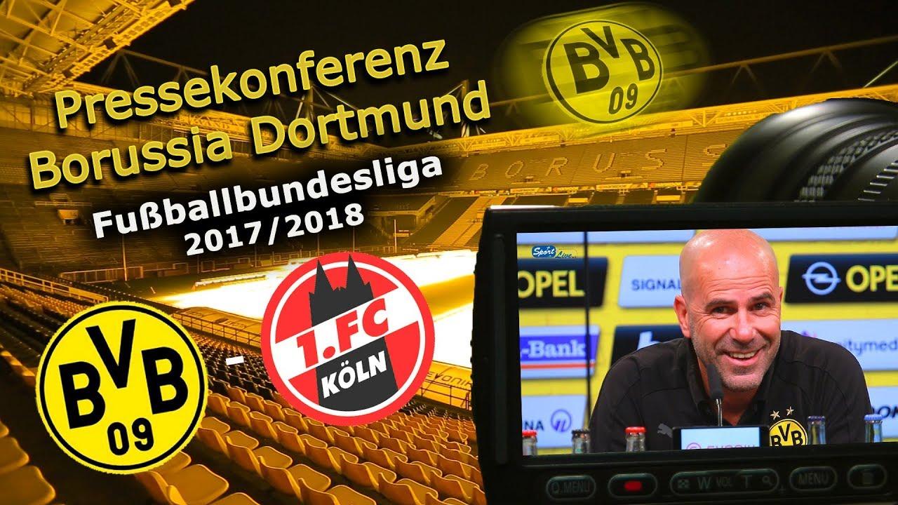 Borussia Dortmund - 1. FC Köln: Pk mit Peter Bosz