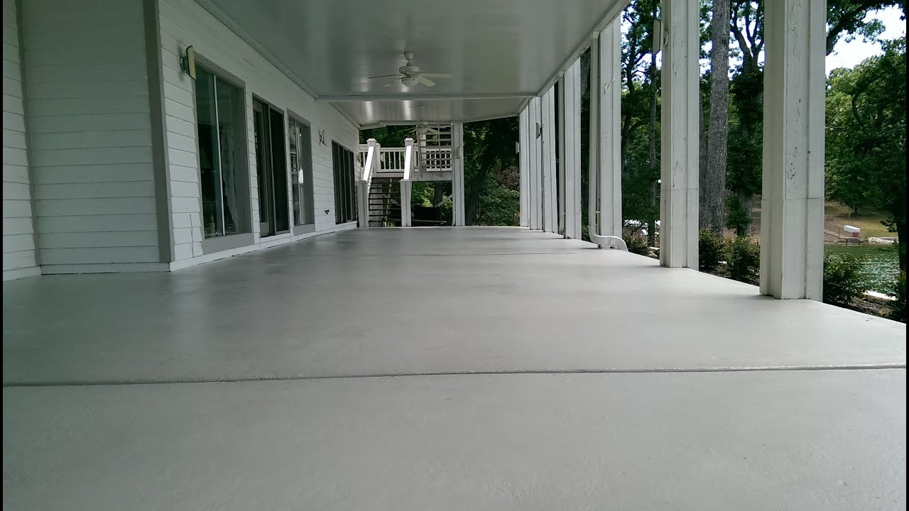 Decorative Concrete Resurfacing Patio Deck Lake Of The Ozarks MO