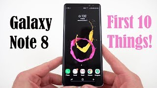 Galaxy Note 8: Top 10 Tips to Setup Your New Phone!