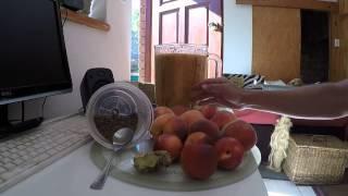 Delicious Vegan Summer Peach And Nectarine Smoothie