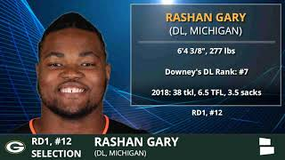 Rashan Gary Drafted By Green Bay Packers With #12 Pick In 1st Round of 2019 NFL Draft