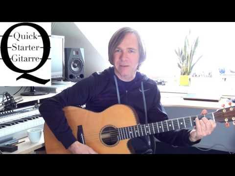 Rhythmusgitarre Tutorial Anfänger: Ein Kompliment Quickstarter Gitarre #4 Sportfreunde Stiller