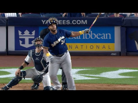 Jesus Aguilar's grand slam against the Yankees, giving him 7 RBI in the game