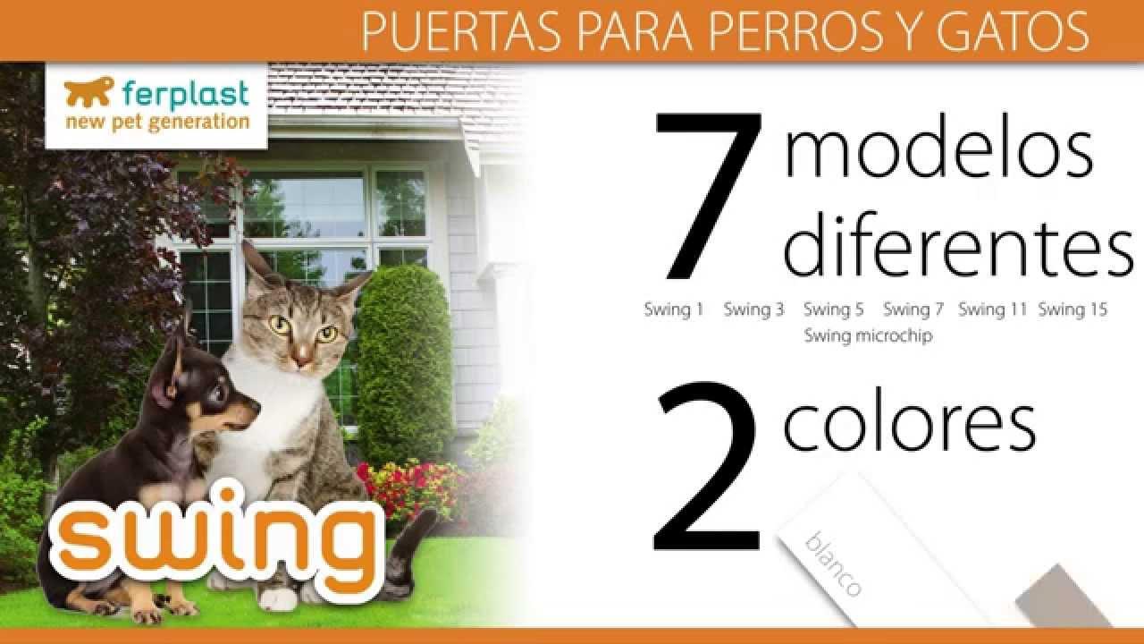 Ferplast swing puerta para perros y gatos youtube for Puerta para perros