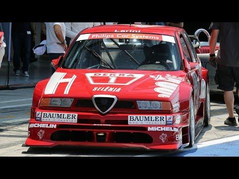 Alfa Romeo 155 V6 Ti DTM (1994) & Nicola Larini - Track action @ Monza Circuit - Pure Sound!