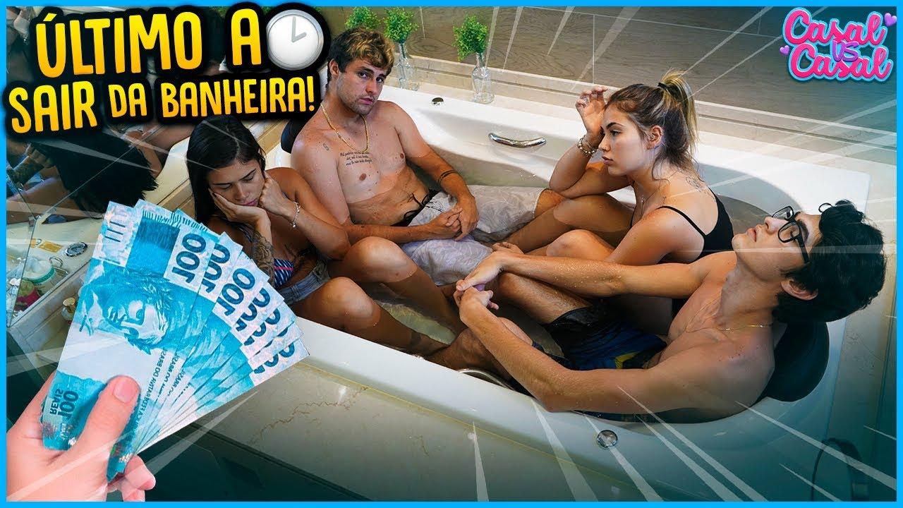 CASAL VS CASAL: ULTIMO A FICAR NA BANHEIRA GANHA 5000 R$!! [ REZENDE EVIL ]