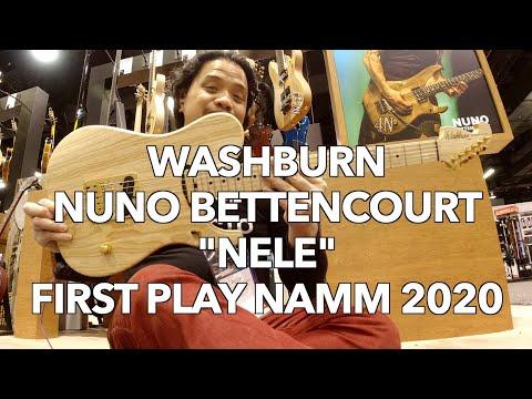 Hear the new Washburn NELE Nuno Bettencourt Signature Guitar! | NAMM 2020