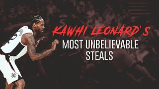 Kawhi Leonard's Most Unbelievable Steals😲