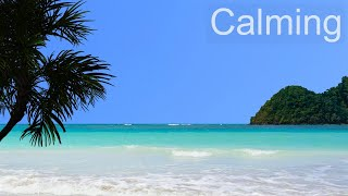 Ocean Meditation – Calm Sea and Soothing Ocean Waves Scene and Sounds - Sunny Tropical Beach