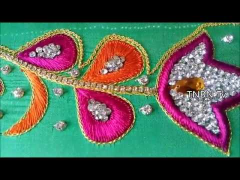 hand embroidery designs for beginners | designer blouse designs | simple maggam work blouse designs