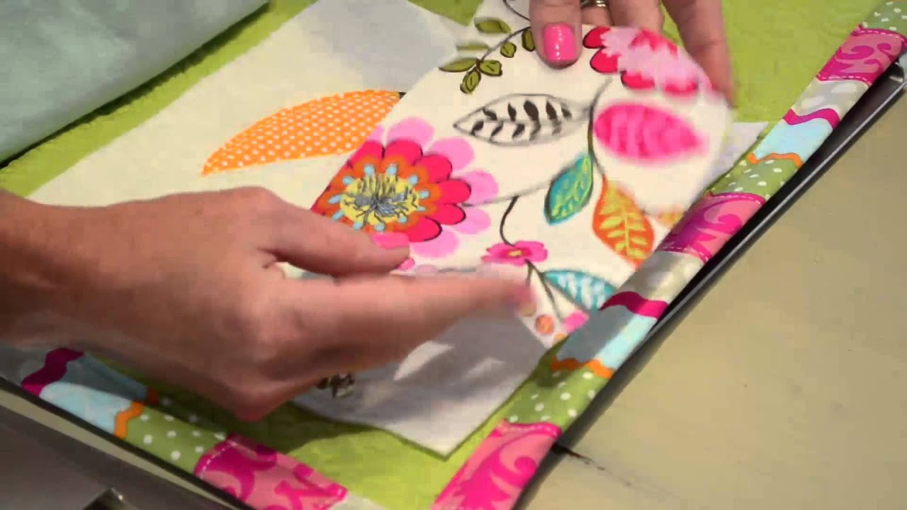 The quilted applique letter tutorial: applique corner youtube