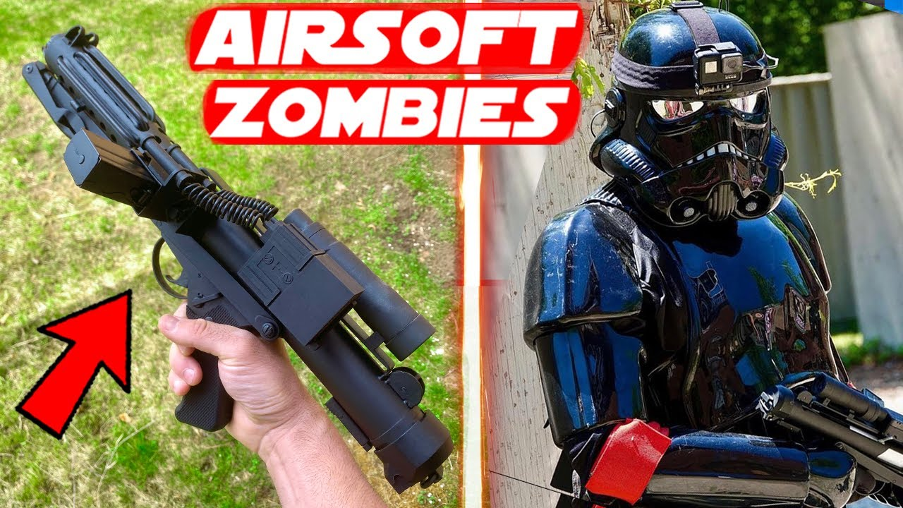 """Airsoft E-11 """"Shadow Trooper"""" Zombie Gameplay + Funny Moments!"""