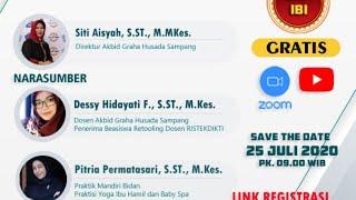Webinar Akbid Graha Husada Sampang | Optimalisasi Tumbuh Kembang Bayi dan Balita dengan Baby Spa.