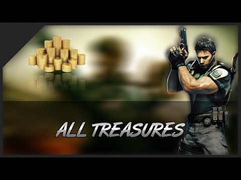 Resident Evil 5 - All Treasures/Guide Location - @60FPS
