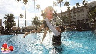 호텔 수영장에서 라임 번지점프 하다! 웃긴영상 LimeTube & swimming pool